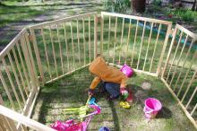 Уличный манеж для дачи для ребенка